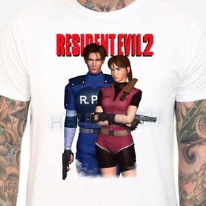 Resident Evil 2 t-shirt - Mens & Women's sizes S-XXL - Leon Claire Retro 1998