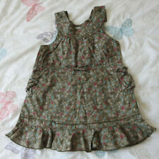 Mexx Sleeveless Lined Dress Khaki With Flower Pattern 12-18 Months