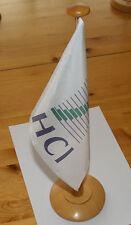 Tischwimpel HCI  mit Holzmast ca. 42 cm hoch