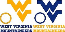WVU WV Cornhole Set DECALS - 6 CORNHOLE Board Decals Vinyl Sticker Window Decals