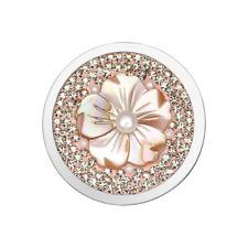 Coin CS223 von CEM für 25 mm Anhägerrahmen Edelstahl Perlmutt Kristall