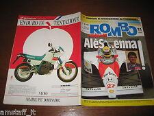 RIVISTA ROMBO 1990/11=AYRTON SENNA=YAMAHA XT 600=FORD SIERRA COSWORTH 4X4=