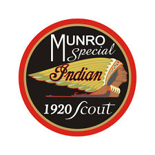 Sticker plastifié INDIAN SCOUT 1920 MUNRO SPECIAL - 6cm x 6m