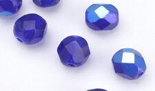 Cobalt AB Czech Glass Faceted Beads 8MM