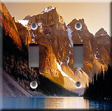 BEAUTIFUL SUNSET DOUBLE LIGHT SWITCH PLATE COVER
