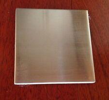"4"" x 4"" Stainless Steel Brushed Metal Tile - sample size 1 tile"