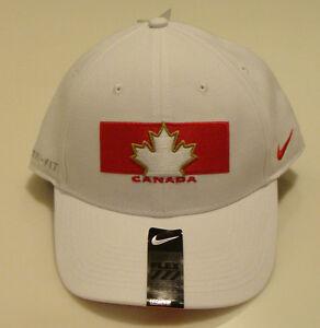 Team Canada 2014 Winter Olympics Hockey Dri Fit White Flex Fit Hat Cap OSFM