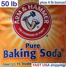 Arm & Hammer Pure Baking Soda - 50 LB - Fifty Pounds with bonus (FAST SHIP)
