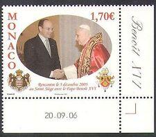 Monaco 2006 Pope Benedict/People/Religion/Royalty 1v (n38289)