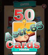 Coin Master :-) 50x Fondue Card- Lighting Fast Sending Speed