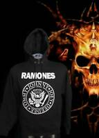 RAMONES HOODIES PUNK ROCK BLACK MEN'S SIZES