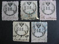 Austria U revenues 5 1 fl collector believed with print,plate varieties,errors