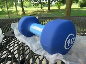 York Barbell Co 10 lb Fitbell Neoprene Coated Cast Iron Dumbbell Hand Weight NWT