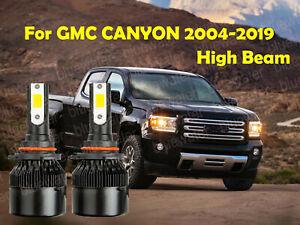 LED For CANYON 2004-2019 Headlight Kit 9005 HB3 6000K White CREE Bulbs HIGH Beam