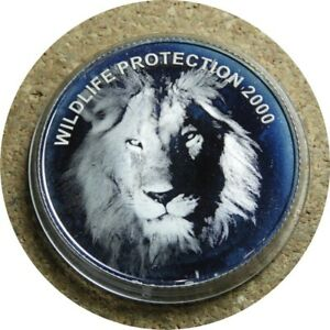 elf Zambia 4,000 Kwacha 2000 Proof Hologram Lion
