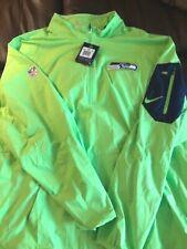 Seattle Seahawks Nike NFL Sideline Pullover Lightweight Hooded Jacket XXL - NWT