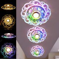 7.9'' Bright Modern Crystal LED Ceiling Light Fixture Pendant Aisle Hallway Lamp
