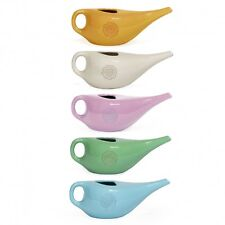 1 x Ceramic Nasal Neti Pot with Mandala & OM Pattern Designs - 5 Colours