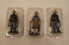 Lot 3 figurines plomb POMPIERS tenue feu Del Prado 1893 & 1780 Strasbourg