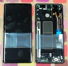 Genuino Negro Samsung SM-N950F Galaxy Note 8 PANTALLA AMOLED PANTALLA LCD 2k Marco