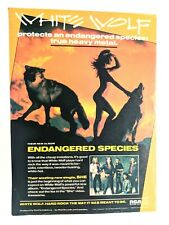 White Wolf / Don Wolf / 1986 Endangered Species Lp / Album Magazine Print Ad