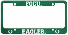 Florida Gulf Coast University -Metal License Plate Frame-Green