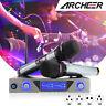 ARCHEER UHF Wireless buetooth Karaok Microphone System Audio 2 HandHeld For TV