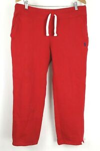 Polo Ralph Lauen Mens Medium Red Sweatpants Blue Pony