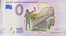 BILLET 0  EURO NETHERLANDS MARKET GARDEN  COULEUR  2019  NUMERO DIVERS