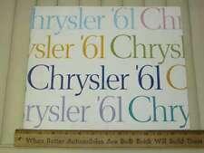 1961 Chrysler Car Sales Brochure