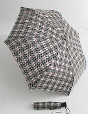Happy Rain karierter Automatik Regenschirm für Damen und Herren schwarz weiß