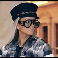 ✅ Gucci GG0152S BLACK Acetate Frame Women's Sunglasses 100%