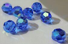 Swarovski crystal beads 10mm 5000 SAPPHIRE AB - bulk pack (144pcs)