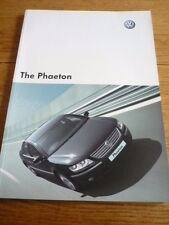 VOLKSWAGEN PHAETON  3.2 V6 AND 6.0 W12 4MOTION SALES BROCHURE MAY 2003
