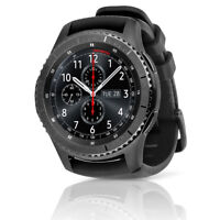 Samsung Gear S3 Frontier SM-R765A AT&T Smartwatch w/ Leather Band LARGE Black