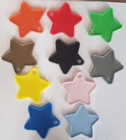 Plastic Star Shaped Balloon Weights 1 - 100 Amounts  - 10 Colours To Choose From