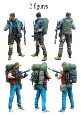 █ 1/35 Resin Apocalypse Survivors 2 Figures Zombie War Unpainted BL065