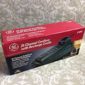 NEW GE 2-9751 25 Channel AutoScan Cordless Telephone Green
