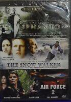 °°° DVd aventure 3 films phantom-the snow walker-air force 2 neuf sous blister