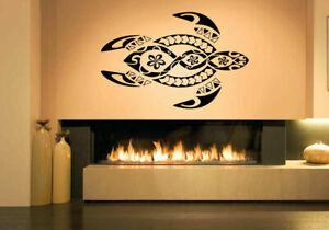 Wall Vinyl Sticker Decal Mural Design Beautiful Abstract Ocean Turtle #1244