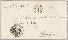 ITALIA REGNO- Storia Postale: BUSTA PREFILATELICA  - SAN BONIFACIO Verona 1867