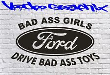 Mauvaises fesses filles Ford Racing Autocollants Drôle Voiture Fenêtre Ford Sponsor Autocollants Pare-chocs