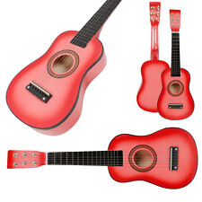 New Beginner Kids 6 Strings Acoustic Toy Guitar 23 Inch Color Hot Pink