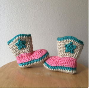 Girl Booties, Baby Booties with high quality of wool