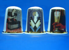 Birchcroft Thimbles -- Set of Three -- Art Deco Posters