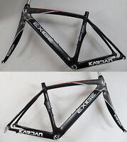 Kardan Exige Carbon Rennrad Rahmen Rahmenkit Rahmen Gabel M 49cm schwarz-grau