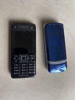 2 X Mobile Phones - Sony Ericsson C902, Motorola KRZR K1 - Untested