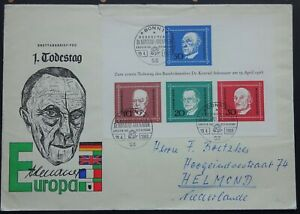 1968 Germany Dr Adenauer 1st Day issue MS1459 Bonn to Netherlands Cover