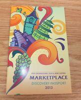 Disney Epcot International Food & Wine Festival Marketplace 2013 Passport