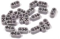 LEGO Technik - 20 x Liftarm 1x2 hellgrau dick / Loch Achsloch / 60483 NEUWARE